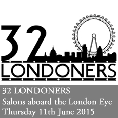 32 Londoners 2015 - Salons aboard the London Eye. Thursday 30th April