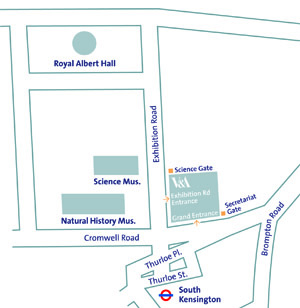 V&A secretariat gate map