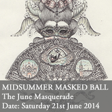 Midsummer Masked Ball June curious invitation last tuesday society suzette field viktor wynd