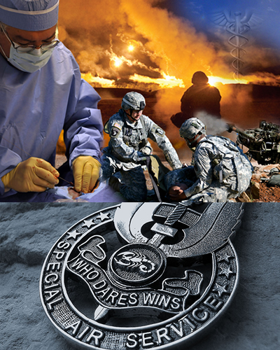 Surgeon in conflict zone and SAS medal