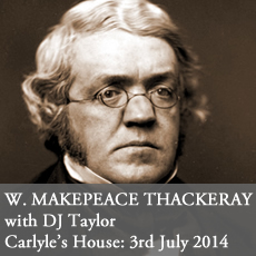William Makepeace thackeray event talk national trust carlyle's house london Taylor